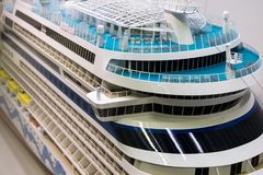 Scale model of the decks of a cruise ship Royalty Free Stock Images