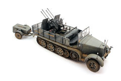 A scale model of half-track Royalty Free Stock Photo