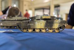 Scale model of heavily armored personnel carrier. Scale model of undefined heavily armored personnel carrier stock photos