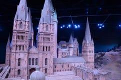 Scale model of Hogwarts, Warner Bros Studio. The amazing 1:24 scale model of Hogwarts castle at the Warner Bros. Studio Tour, London Royalty Free Stock Photo