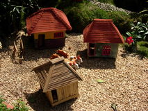Scale model houses Stock Image