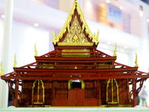 Scale model of religious hall at Architect Expo 2015 Royalty Free Stock Photography
