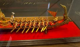 The scale model of Royal Barge Procession is a ceremony of both religious and royal significance. BANGKOK, THAILAND. – On September 18, 2018 - The scale stock photography