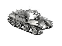 Scale model of a silver german tank toy from WWII isolated on wh Stock Images