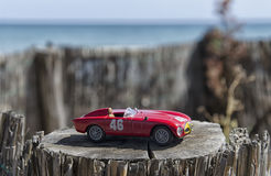 Scale model of a sport car. View of a scale model of a sport car Royalty Free Stock Photos