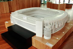 Scale model of a stadium Stock Image