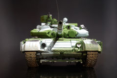 Scale model tank. On black background royalty free stock images