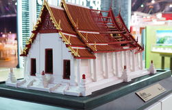 Scale model of a temple at Architect Expo 2015 Royalty Free Stock Images