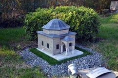 Scale model of tomb of Sultan Murat Stock Photos