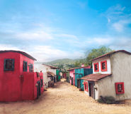 Scale model of a typical mexican village on a sunny day Royalty Free Stock Images