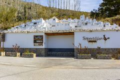 Scale model of the village of Soportujar stock photography