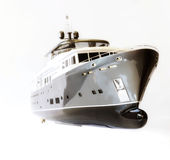Scale model yachts. From the front Stock Photography