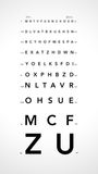 Scale Monoyer blur Stock Image