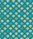 Scale Pattern in Blue Stock Image