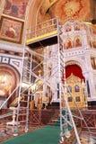 Scale per ripristino all'interno della cattedrale Immagine Stock