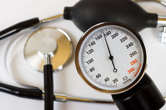 Scale of pressure and stethoscope Stock Photography