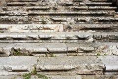 Scale romane antiche esposte all'aria invecchiate Fotografie Stock Libere da Diritti