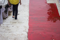 Scale rosse Fotografia Stock Libera da Diritti