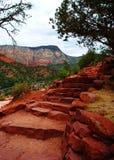 Scale rosse della roccia Immagini Stock