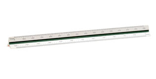 Scale ruler. Architect scale ruler (with clipping path) isolated on white background Royalty Free Stock Image