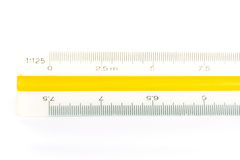 Scale ruler on white Royalty Free Stock Image