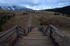 Scale sopra la montagna Immagini Stock Libere da Diritti