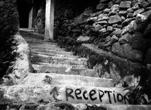Scale sotterranee urbane alla ricezione Fotografia Stock Libera da Diritti