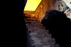 Scale, stairs. Stairs placed in Monastero dei Benedettini, Catania Stock Images