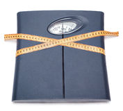 Scale and tape measure Stock Photography