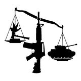 Scale of Unfairness. (coup by judiciary), vector, illustrator Royalty Free Stock Images