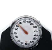 Scale used for measuring body weight Royalty Free Stock Images