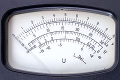 Scale voltmeter Stock Image