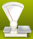 Scale for weighing. Vegetables or other foods Royalty Free Stock Image