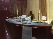 A scaled down model of a ship called Sagardeep. On display at Kunoor Lighthouse Museum Stock Image