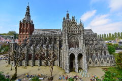 Scaled replica of Cathedral Church of Saint John at Madurodam minature park Stock Photography