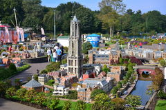 Scaled replica of Dom Tower at Madurodam minature park Royalty Free Stock Image