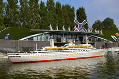 Scaled replica of the SS Rotterdam retired cruise ship Stock Photography