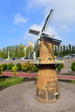 Scaled replica of a windmill at Madurodam minature park Stock Image