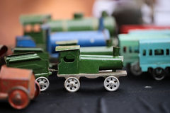 Scaled retro steam train collection Stock Photo