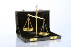 Scales. Scale for weighing gold giveaways Royalty Free Stock Image