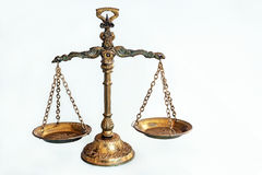 The scales. Old scales from brass with nice details Stock Images