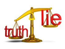 Scales, advantage truth Stock Photography