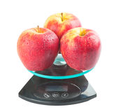 Scales With Apples Stock Photography