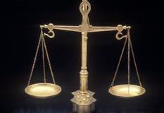 Scales av rättvisa Royaltyfri Foto