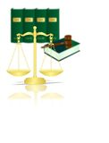 Scales and books, cdr vector Royalty Free Stock Photos