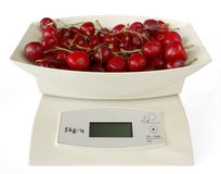 Scales with Cherries Stock Image