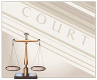 Scales - Court Royalty Free Stock Images