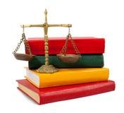 scales för bokbegreppsrättvisa Royaltyfria Foton
