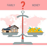 Scales - family or money Stock Photos