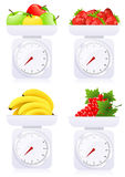 Scales with fruit Stock Image